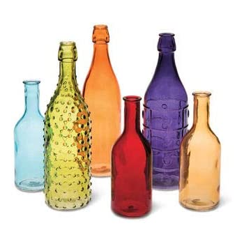 Gardener S Supply Company Colorful Bottles Set Of 6