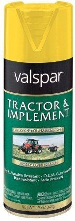 Implement Spray Enamel - Valspar 18-5339-08 SP 12 Oz Yellow Tractor & Implement Enamel Spray Paint by Valspar
