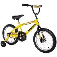 Dynacraft Magna Major Damage - Bicicleta BMX de Calle o de Cross, 40,6 cm, Color Amarillo y Negro