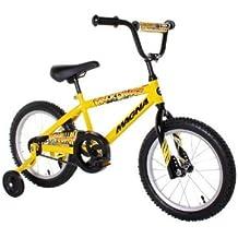 "Dynacraft Magna Major Damage Boys BMX Street/Dirt Bike 16"", Yellow/Black"
