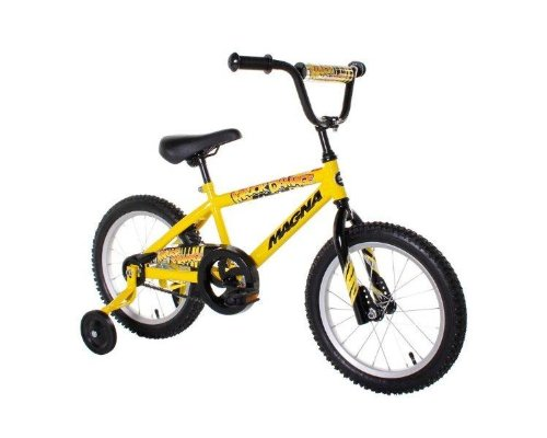Dynacraft Magna Major Damage Boys BMX Street/Dirt Bike 16″, Yellow/Black