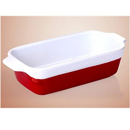 KAKA(TM) Kitchen Tool Heat-resistant Rectangle Ceramic Hotplate Baked Baked Rice Bowl