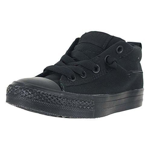 5848b8da6019 Galleon - Converse Kids Chuck Taylor Street Cab Mid Fashion Sneaker Shoe -  Black Monochrome - Boys - 1