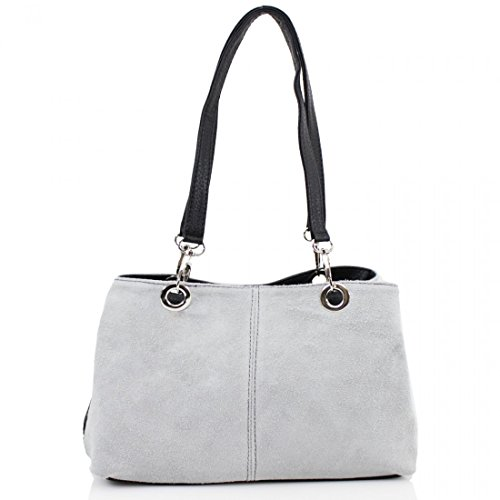 Side Bags Girls Ladies Tripple Women Compartment Grey Light Shoulder Bags Clicktostyle Suede 8A6wqAz