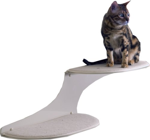 The Refined Feline Cat Cloud Cat Shelves in Off-White, Right Facing, My Pet Supplies