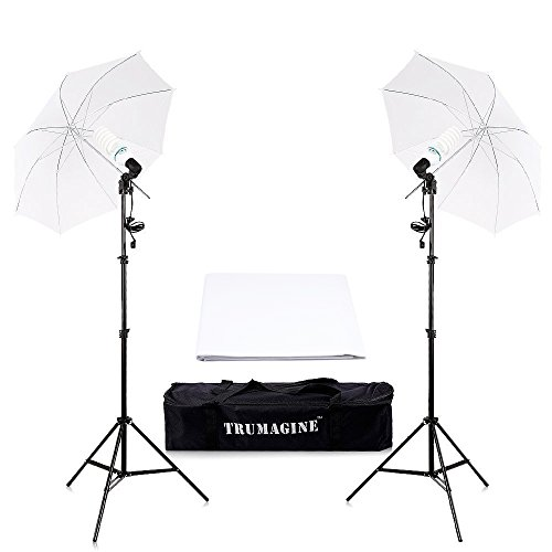 2x135W Photo Photography Umbrella Lights Lighting Kit Flash Continuous Light for Film Studio Portrait Video Shooting