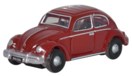 Oxford Diecast Nvwb002 Volkswagen Beetle In Ruby Red - Oxford Scale