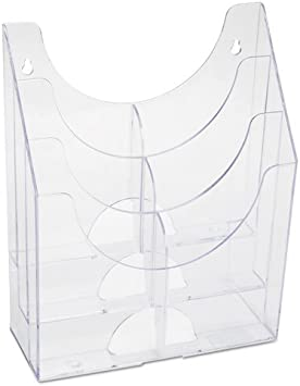 Amazon Com Optimizers Multipurpose Six Pocket Organizer 9 3 4 X 4 1 4 X 12 Clear Office Products