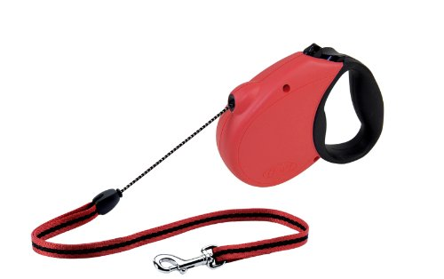 Flexi Freedom Soft Grip Retractable Cord Dog Leash, Medium, 16-Feet Long, Supports up to 44-Pound, Red/Black
