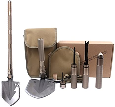 Military Portable Folding Shovel Survival Spade Outdoor-Tool For Camping S1Y2