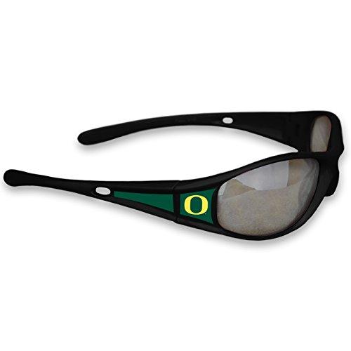 FTH Oregon Ducks Black Sports Elite 3 Sunglasses with Logo ()