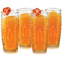 Libbey  Modern Bar Tiki Cooler 4 Piece Set in Clear