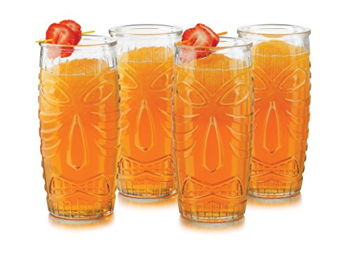 (Libbey Modern Bar Tiki Cooler 4 Piece Set in Clear)