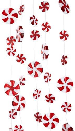 Kurt Adler 8' Plastic Large Candy Swirl (Peppermint Ornaments)