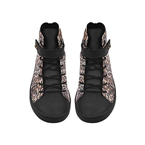 Artsadd Leopard Print Rund Tå Kvinner Sko Øke Sneaker