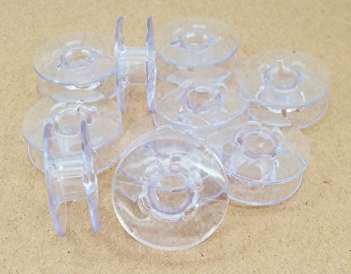 - 10 Plastic Bobbins 9033P for Pfaff Sewing Machine Light Blue Bobbins (TOP Quality) by LNKA