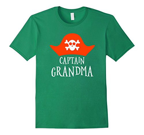 Mens Captain grandma t-shirt. Captain grandpa. Halloween costume. 2XL Kelly (Grandma And Grandpa Halloween Costume)