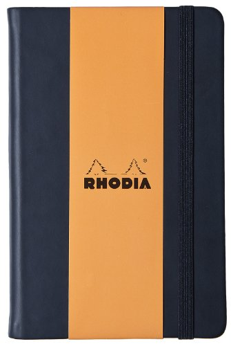 Rhodia Webnotebook - A5 (5.5 x 8.25 inches), Lined, Black