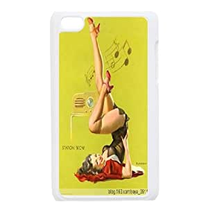 Retro sexy confident Pin-up girl case cover Tearproof For FOR IPod Touch 4th AD162833