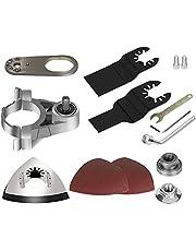 LKEREJOL Converter Oscillating Tool Adapter Kit 100 Type Aluminum Angle Grinder Polishing Oscillating Multitool Accessories Kit
