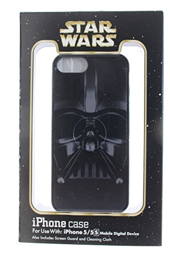 Disney D-tech World WDW Parks Authentic Star Wars Darth Vader Iphone 5/ 5s Phone Hard Case w/ Screen Guard Cleaning Cloth (Iphone 5 Case Disney World compare prices)