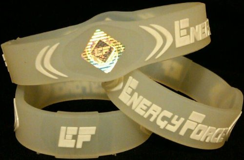 Energy Force Wrist Band (Clear with White, Medium) by Energy Force (Image #2)