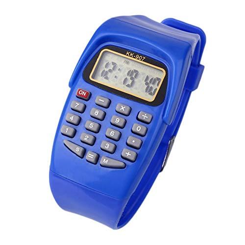 MingXiao Kids Date Silicona Calculadora Multiusos electrónica Reloj de Pulsera Regalo de Navidad