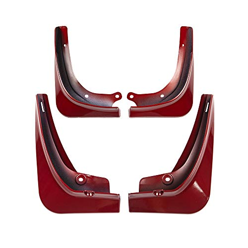 ETIAL 4PCS Car Mud Flaps Splash Guard Fender Plastic Front Rear Wheel Mudguard for Tesla Model 3 with Fixing Screws(Red)