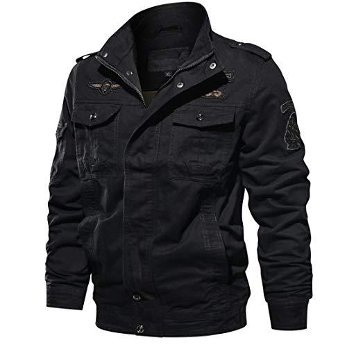Insenver Men's Military Jacket Cotton Lightweight Windbreaker Jackets Casual Outdoor Coat 1