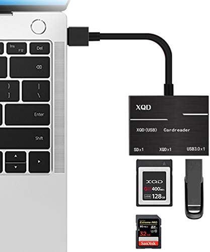 Alician XQD SD Card Reader 500MB S High Speed XQD2.0 USB3.0 HUB Camera Kit Adapter Black