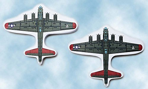 B-17 Flying Fortress Plane Page Flags Sticky Note 2 Pack Airplane Bomber World War 2 100 Sheets (World Map Sticky Notes)