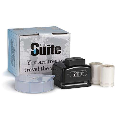 Pill Suite │ Personal Pill & Vitamin Pack System │ Includes Sorter, Sealer, Batteries & 400 Easy-Tear Pill Pouches