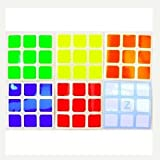 Z Stickers for 5.7cm 3x3x3 Speed Cubes . A Set of High Quality Stickers for Replacement . Z Bright.
