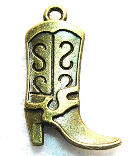 (10Pcs Tibetan Antique Bronze 3D Hi-Heel Western Boot Charm Pendants Drops W68 Crafting Key Chain Bracelet Necklace Jewelry Accessories Pendants)