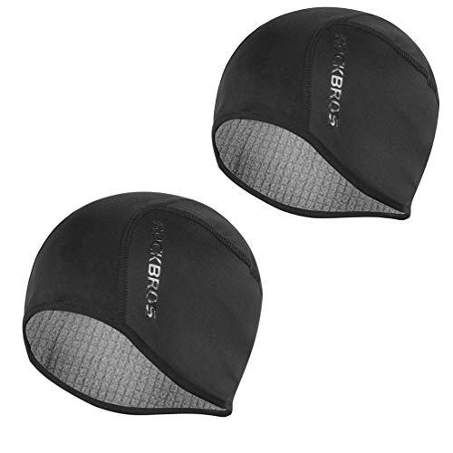 en & Women Thermal Cycling Helmet Liner Moisture Wicking Motorcycle Running Hat,Fits Under Helmets 2 Pack ()