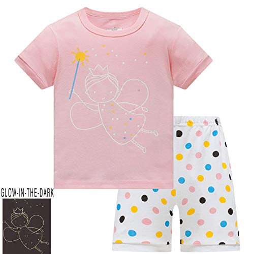 Girls Pajamas Kids Pjs Toddler Cotton Shorts 2-Piece Set Clothes Size 8 ()