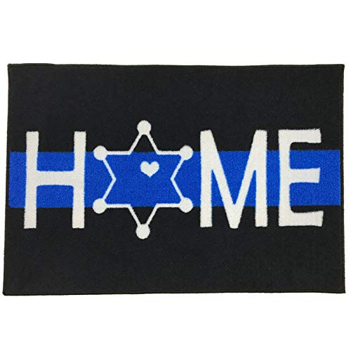 Deputy Sheriff Star - Deputy Sheriff Star Home Welcome Doormat Thin Blue Line 2x3 - FMS Exclusive