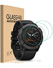 HEYUS [3 Pack] for Garmin Fenix 6/6 Pro/6 Solar Screen Protector, 9H Hardness Scratch Resistant Tempered Glass Screen Protector Protective Film Cover for Garmin Fenix 6/6 Pro/6 Solar