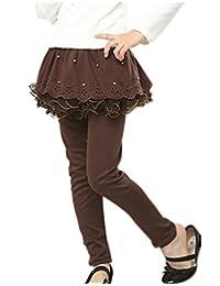 Arshiner Girls Tutu Winter Warm Cotton Leggings Culottes Skirt Pants