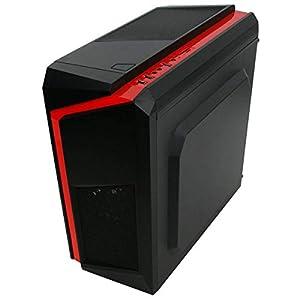 Red Gaming PC – Intel i5-8GB RAM – 1TB HDD – GT710 – Windows 10 (Renewed)