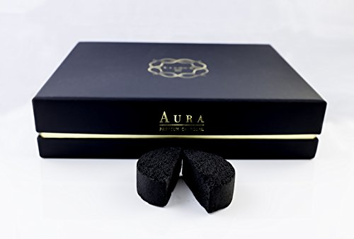 Kaloud Aura Premium Coconut Charcoal 48 Pieces For Clean And Smooth Hookah Sessions Fits Perfectly With Kaloud Lotus I+ by Kaloud