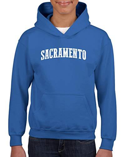 Mom`s Favorite Sacramento City California Traveler Gift Unisex Hoodie for Girls and Boys (SRB) Royal Blue ()