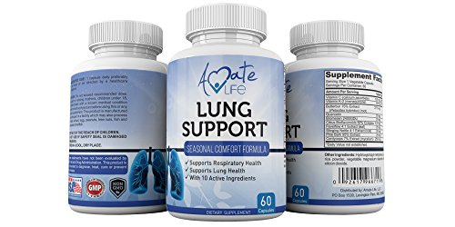 Amate Life Lung Support Dietary Supplements- Herbal Breathing Support- 10 Active Ingredients- Original Formula for Lung Health- Lung Cleanse Formula- Supplement for Bronchial System- 60 Caps- Non GMO by Amate Life (Image #5)