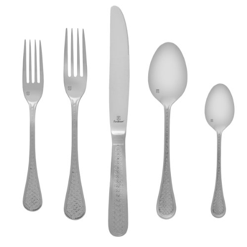 Fortessa Imperial 18/10 Stainless Steel Flatware, 5 Piece Place Setting, Service for ()
