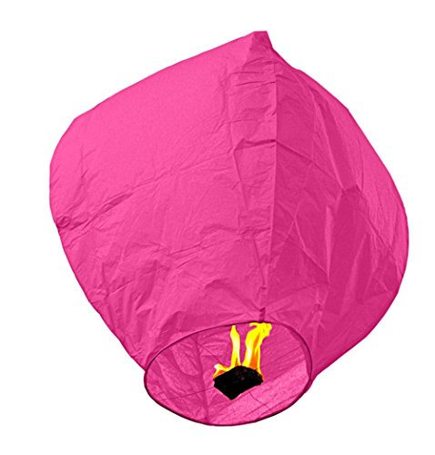 20 PCS Sky Lanterns Paper Lanterns Chinese Wishing Lantern For Birthday Wedding Party (20pcs Pink)