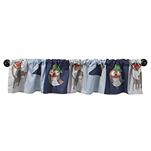 Bedtime Originals Baby League Sports Animals Window Valance, Blue/Gray