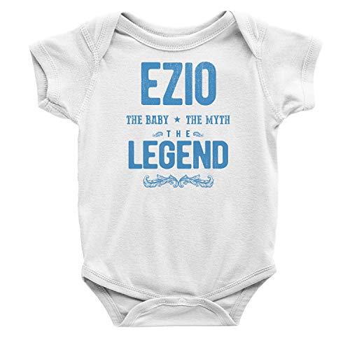 Harten Care, Ezio The Baby The Myth The Legend Personalized Baby Onesie Bodysuit Short Sleeve White 6-12 -