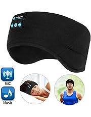 Bluetooth Headband Wireless Sleep Headphones, TOPOINT Music Sports Sleeping Headband Headphones for Workout, Jogging, Yoga, Black