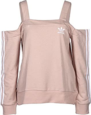 adidas Info Poster Off Shoulder Sweatshirt Women Pink +