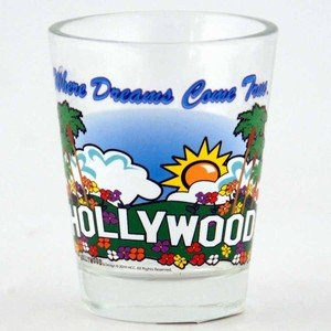 Hollywood Shot Glass Dreams Come - Hollywood Glasses